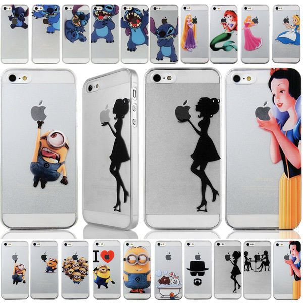 PC pattern hard back Case protector For iPhone 4S...