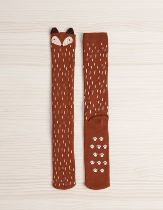 Oysho   Long fox print socks
