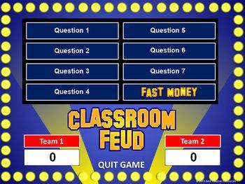 Classroom Feud PowerPoint Template - Plays Like Fa...