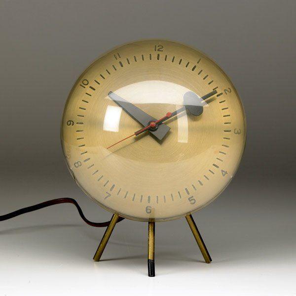 400: GEORGE NELSON / HOWARD MILLER Brass desk cloc...