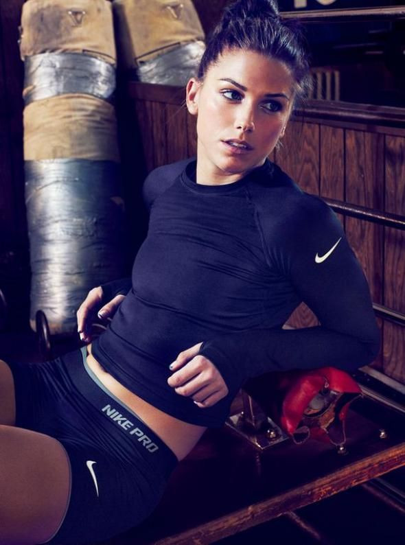 Alex Morgan a striker for the Us national soccer t...