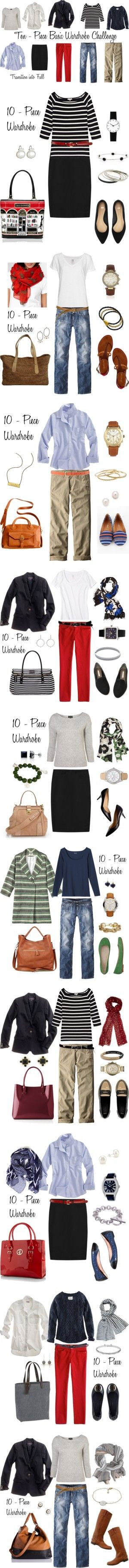 Looks from the 10 - Piece Wardrobe Challenge