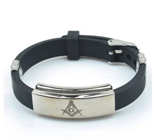 Freemason / Masonic Bracelet - Watch Style Black R...