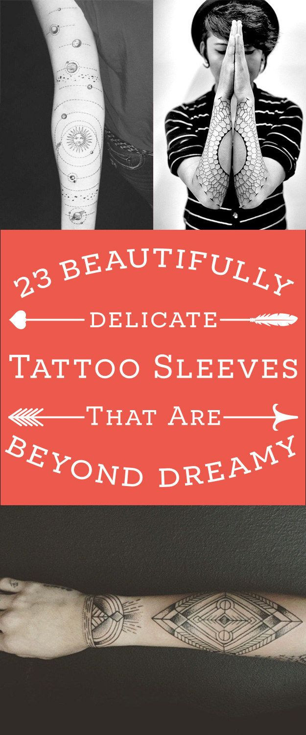 23 Stunningly Delicate Tattoo Sleeves That Are Bey...