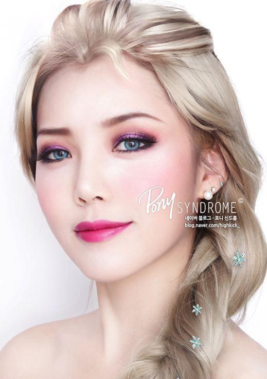 Disney Frozen : Elsa Make-up tutorial / how to do...