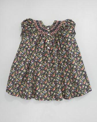 Ralph Lauren Childrenswear Smocked Floral-Print Dr...