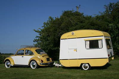 Oh...that is my dream!  A yellow VW and a cozy nes...