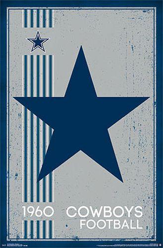 Dallas Cowboys Retro Logo c.1960 Official NFL Foot...