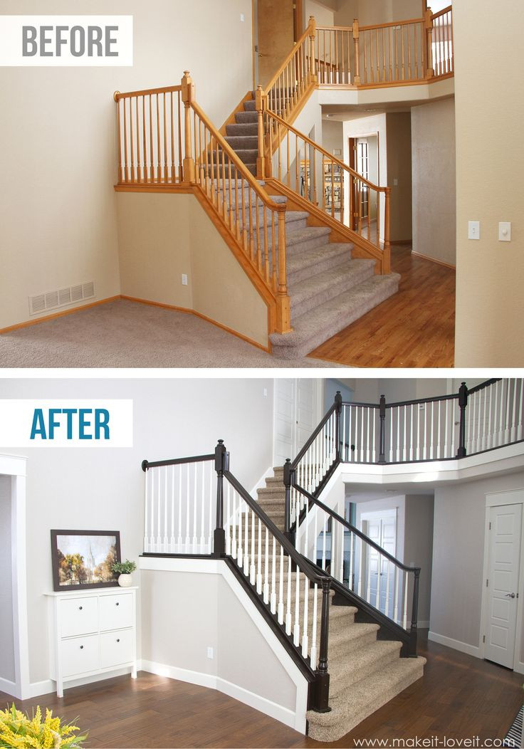 How to Stain/Paint an Oak Banister (the shortcut m...
