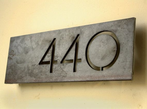 The Monroe House Numbers - Steel Modern Metal Addr...
