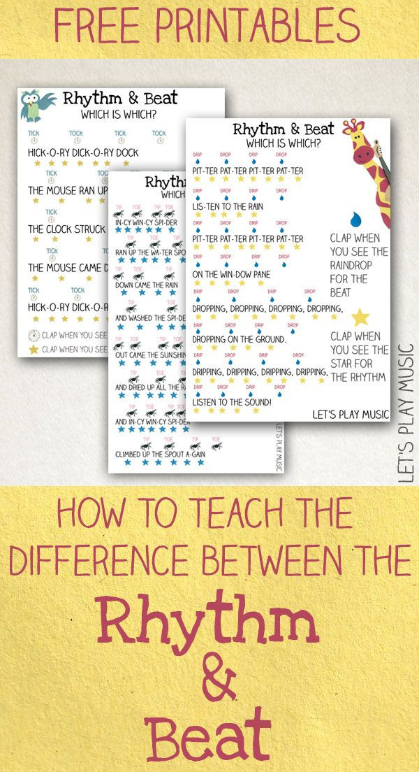 How to Teach the Difference between the Rhythm and...