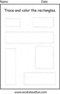 Shape – Rectangle – 1 Worksheet