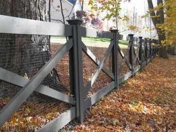 Redding picket fence, stonewall, and cross buck ra...
