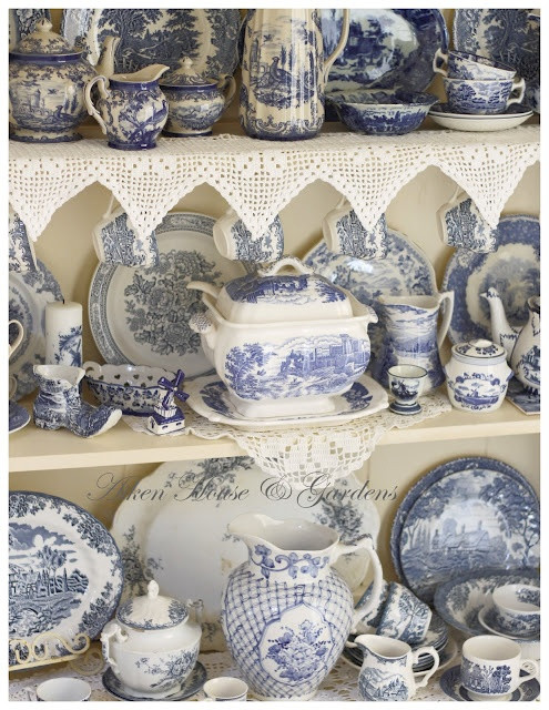 blue & white transferware - we will be together so...