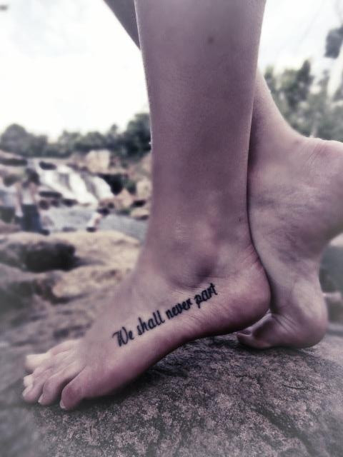 "sister tattoo ""we shal never part"" @Korie Dean, I..."