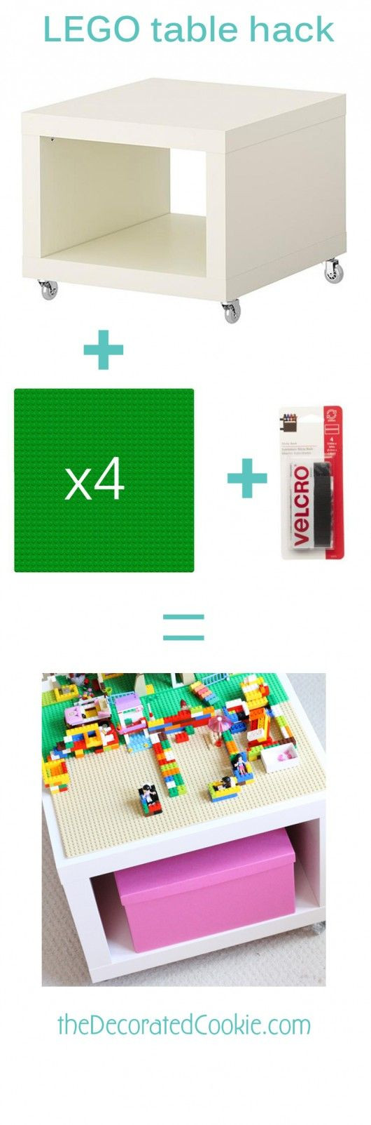 This easy LEGO table IKEA hack is a play table and...