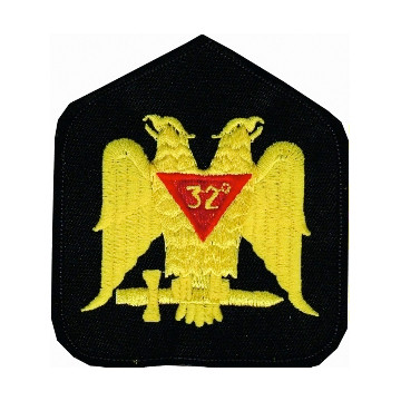 Masonic Patch Scottish Rite Wings Down 32nd Degree...