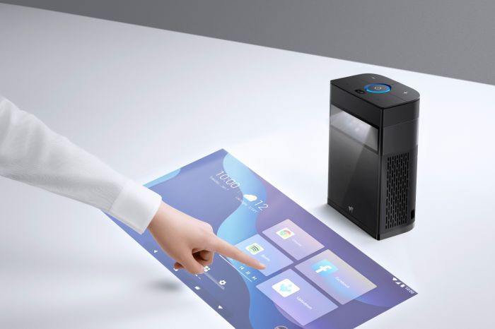 The Portable Smart Touchscreen Projector