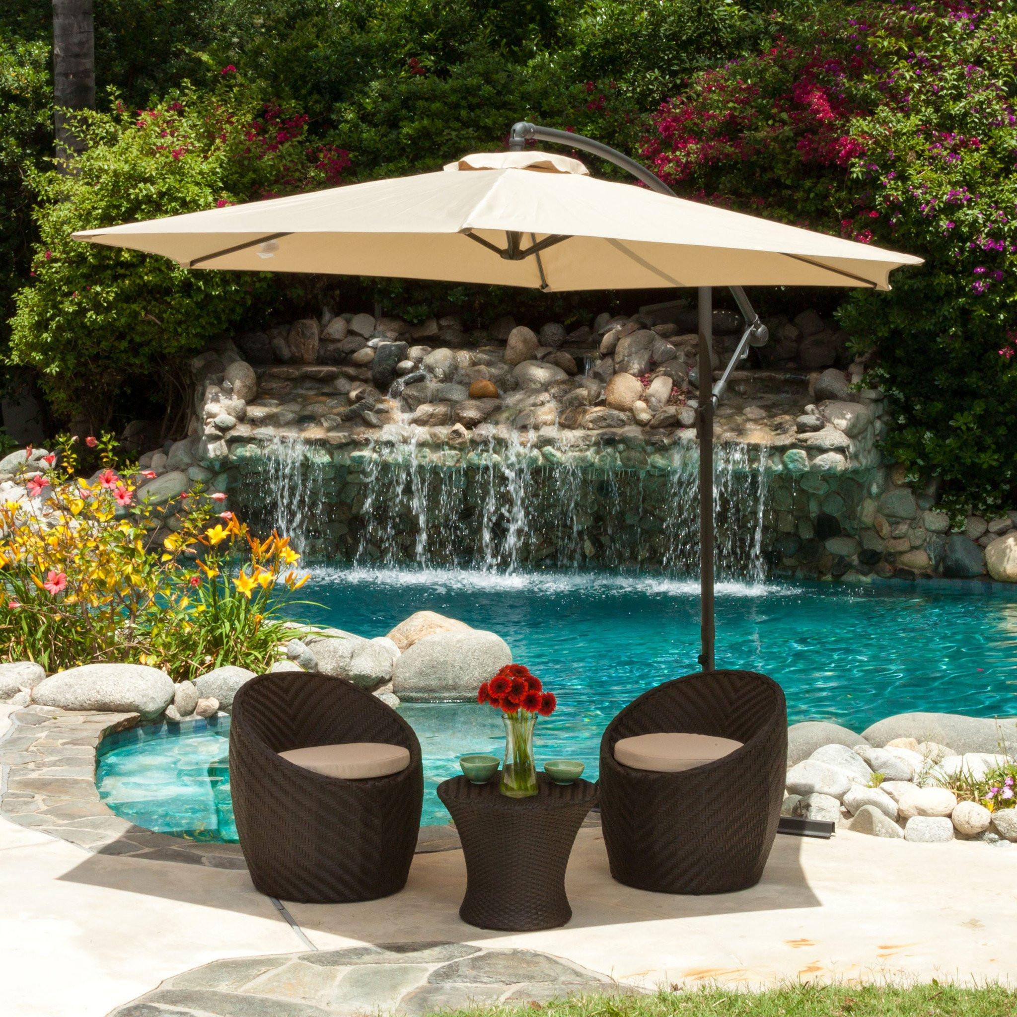 Acosta Outdoor Cantilever Patio Canopy Waterproof...