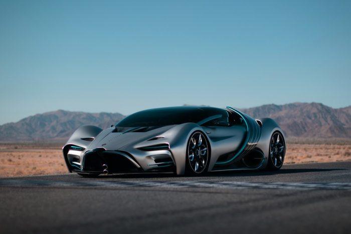 A hydrogen hyper-car with articulating solar panel...