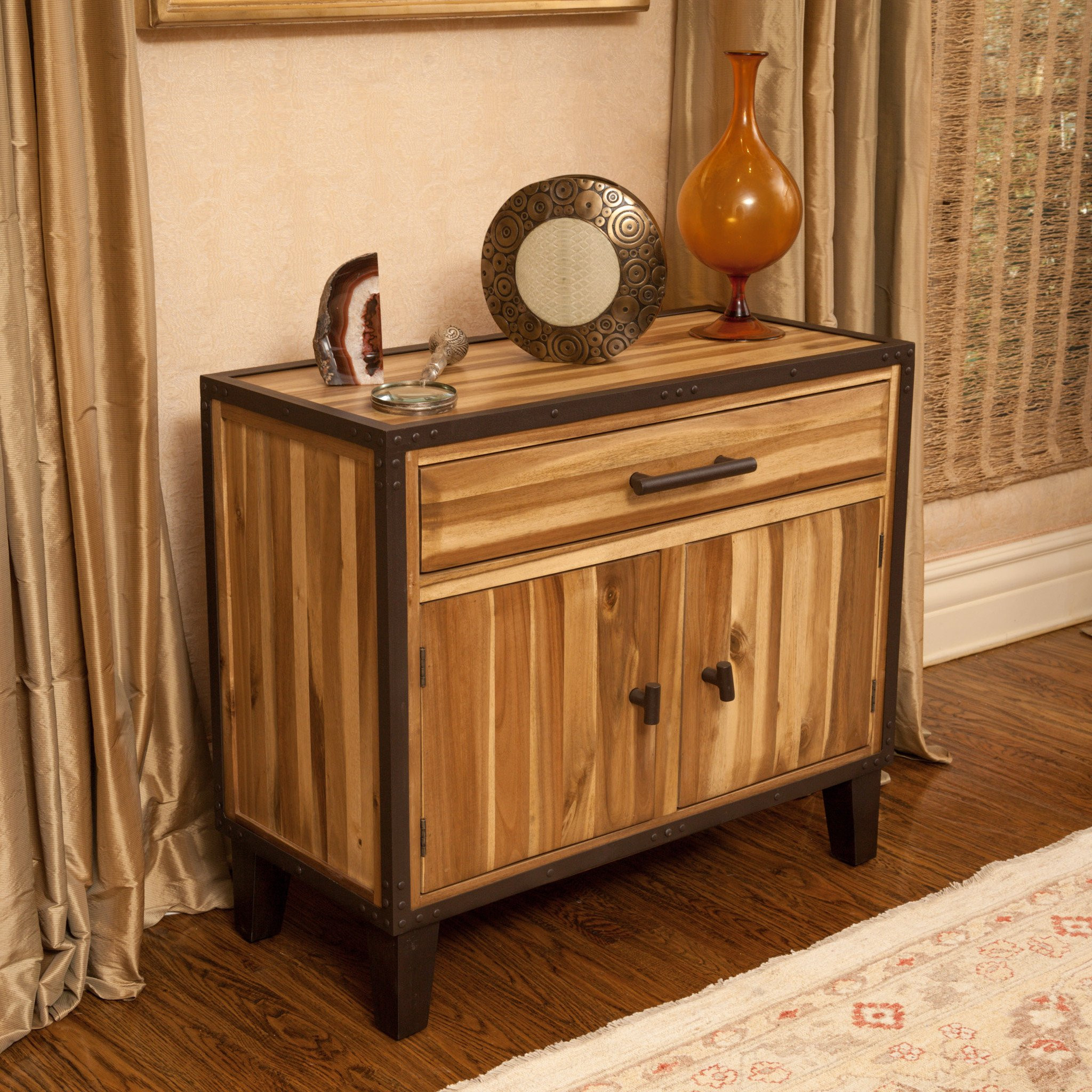Glendora Natural Stained Solid Wood Storage Chest...