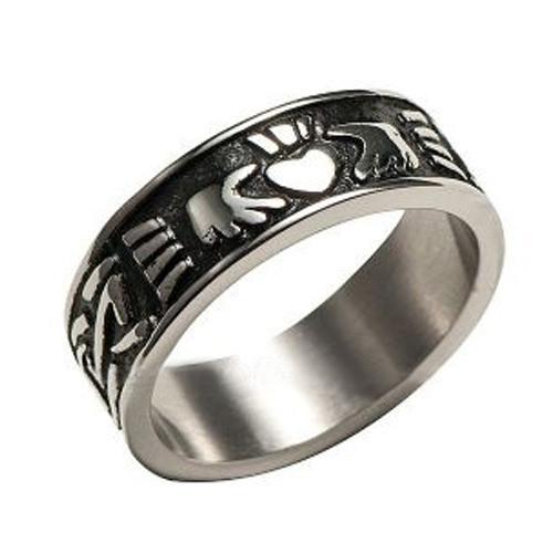 Men's Claddagh Irish Celtic Ring (Heart &...
