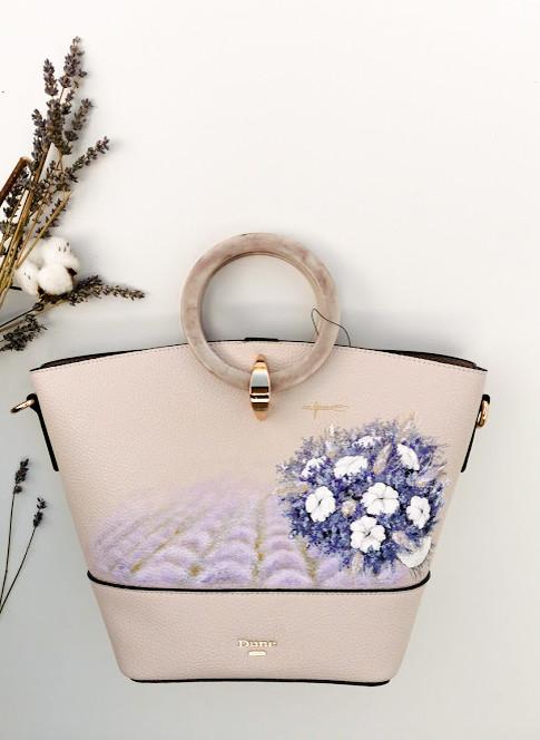 Lavender Scent Hand-painted Handbag