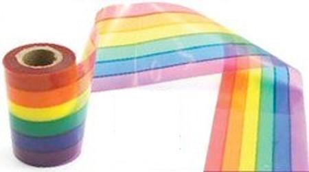 50 Foot Rainbow Gay Pride Flag Crime Scene Ribbon...