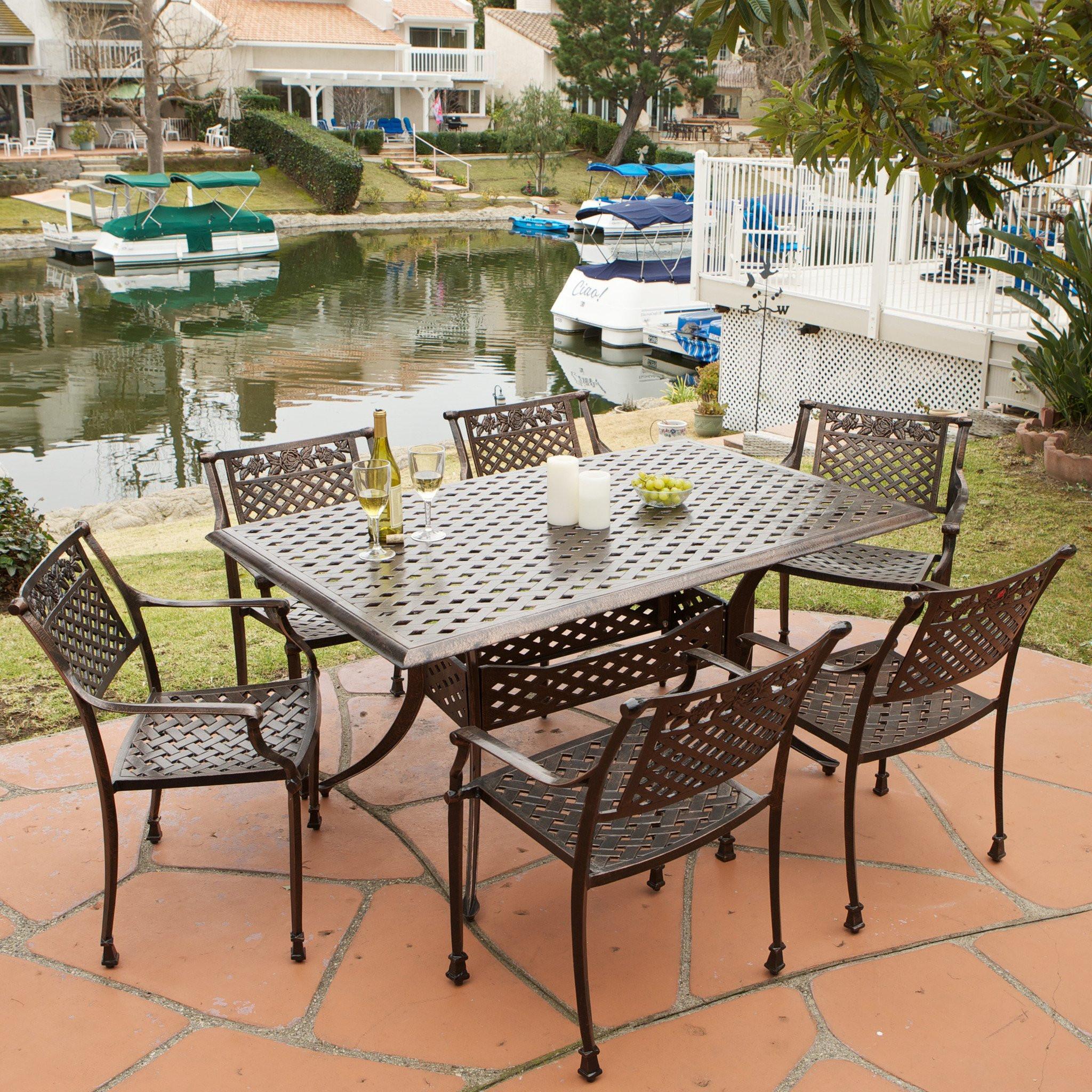 Sierra 7pc Outdoor Cast Dining Set