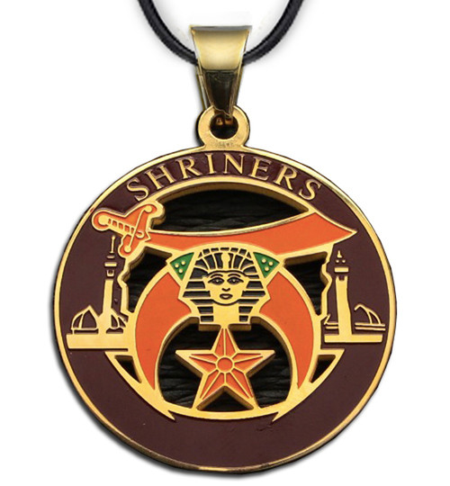 Shriners - Gold Color Stainless Steel Masonic Free...