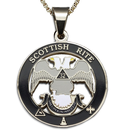 Scottish Rite 32nd Degree - Silver Color Stainless...