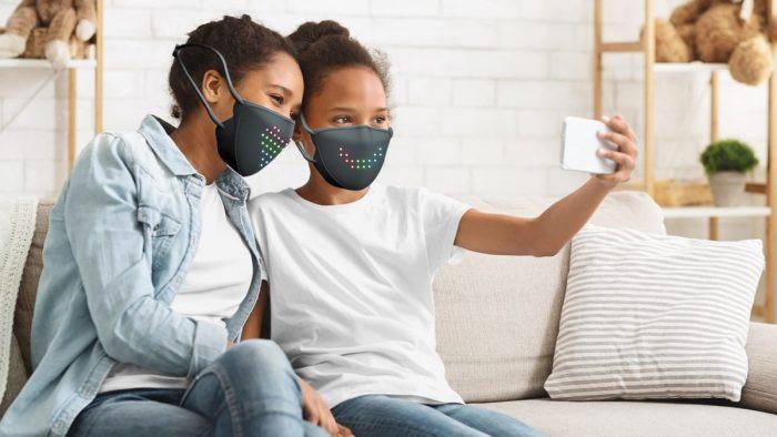 Customizable LED face mask