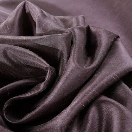 Dark Grape Vintage Textured Faux Dupioni Silk Fabr...