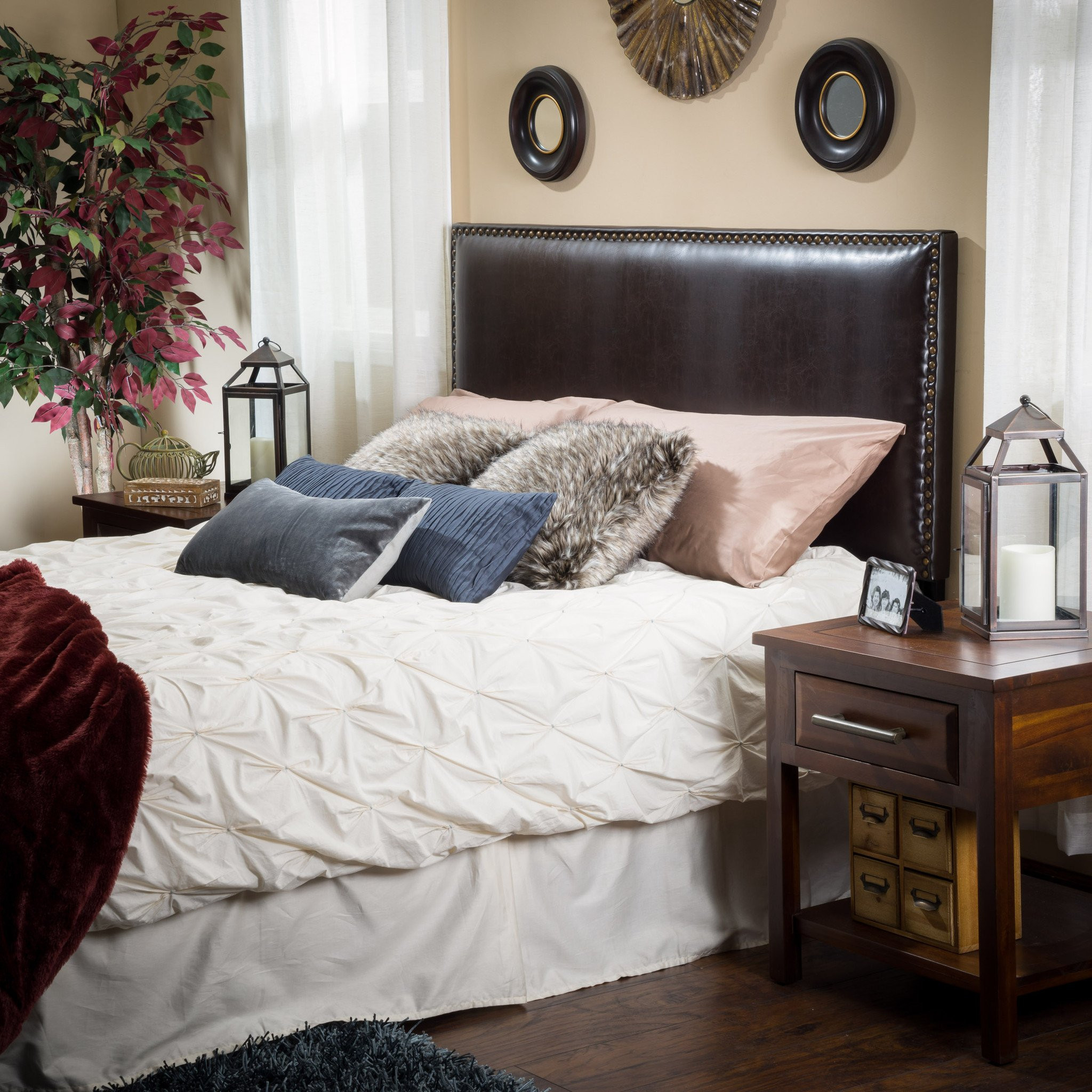 Westin King-to-Cal King Adjustable Brown Leather H...