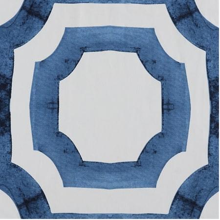 Mecca Blue Printed Cotton Fabric