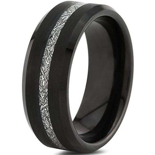 8mm - Unisex or Men's Tungsten Wedding Band. I...