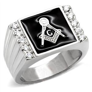 Steel Freemason Ring / Masonic Rings Cheap - with...