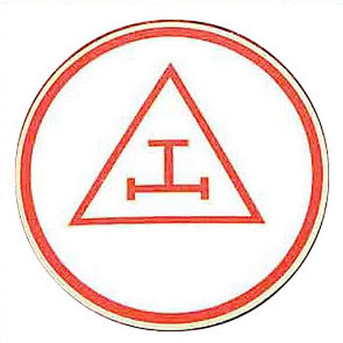 Masonic Car Emblem / Red Royal Arch symbol. Triple...
