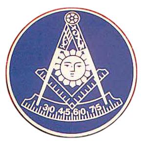 Freemasons Car Emblem / Past Master symbol with Da...
