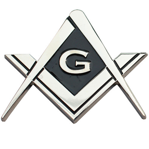 Cut Out Shaped Square and Compass Masonic Car Bump...
