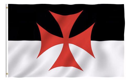 Knights of Templar Masonic 3x5 Polyester Flag - Bl...