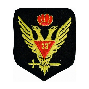 Masonic Patch Scottish Rite Wings Up 33rd Degree f...