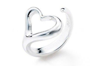 Heart Ring - Adjustable - One Size Fits All (.925...