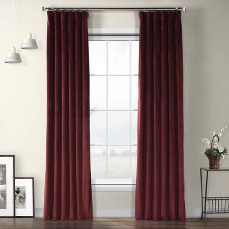 Dark Merlot Plush Velvet Curtain
