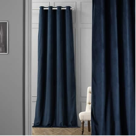 Signature Midnight Blue Grommet Blackout Velvet Cu...