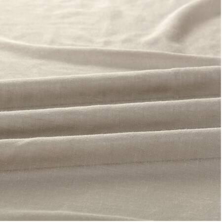 Paris Grey Solid Faux Linen Sheer Fabric