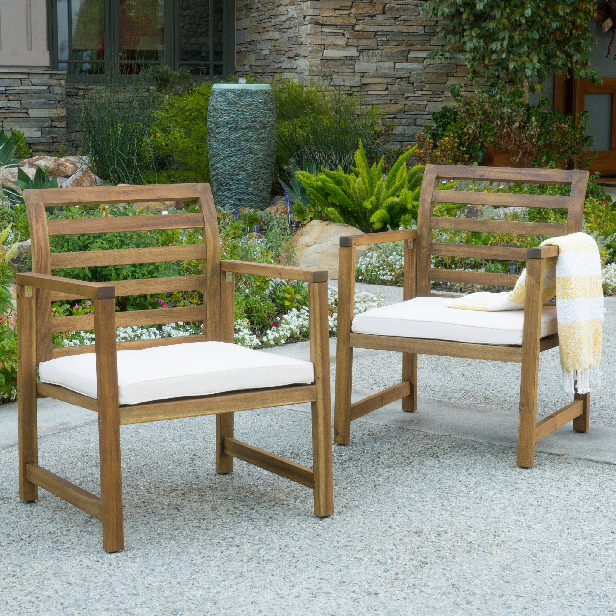 Eveleigh Coastal Outdoor Natural Stained Acacia Wo...