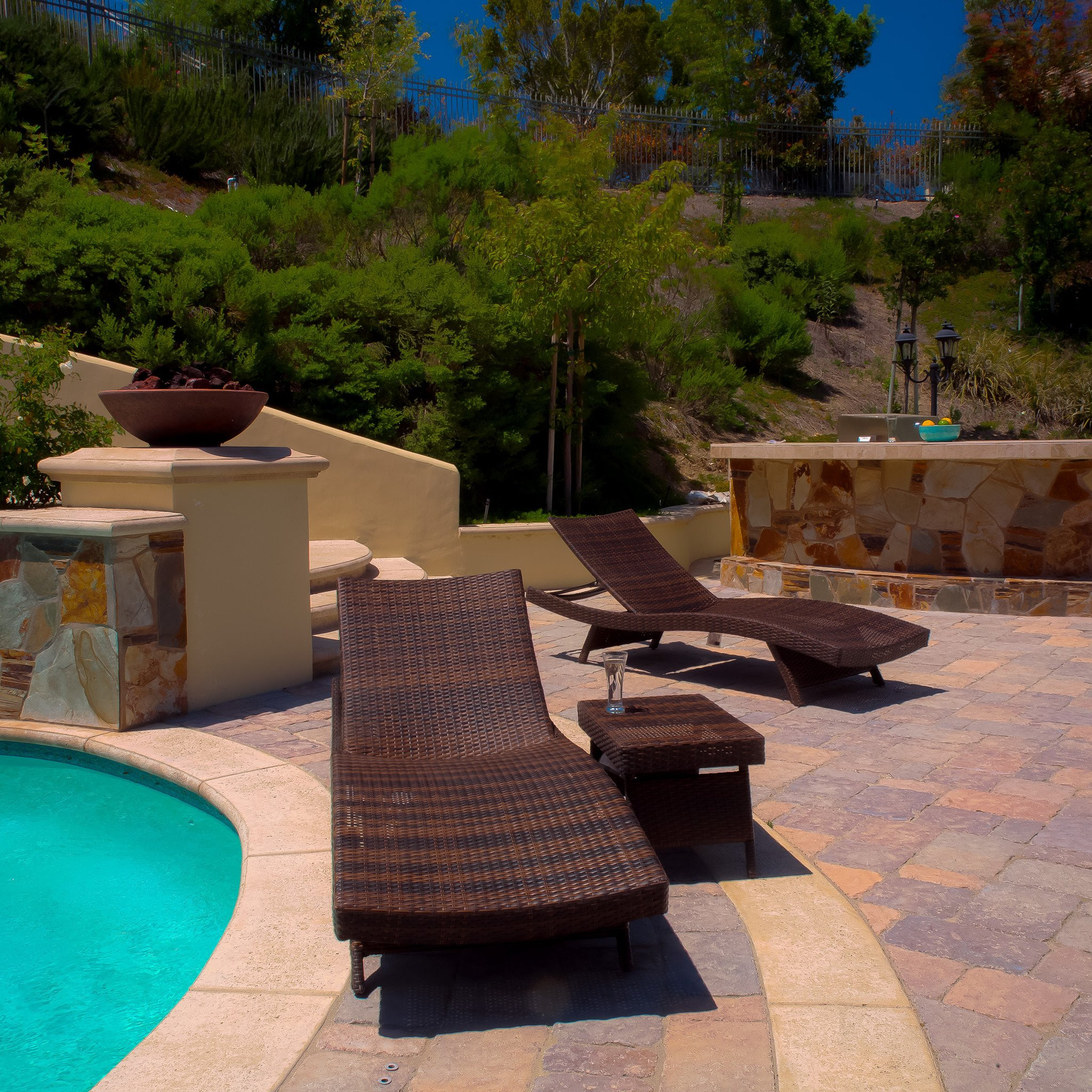 Lakeport 3pc Outdoor Wicker Chaise Lounge & Table...