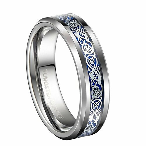 6mm - Unisex or Women's Wedding Band. Silver a...