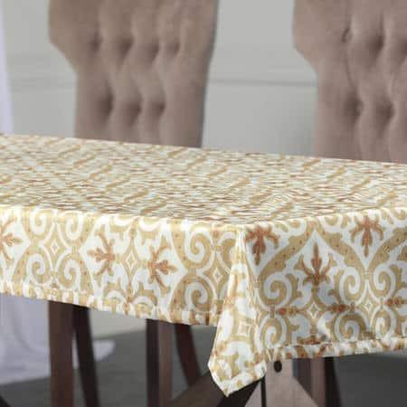 Iron Gate Gold Designer Faux Silk Taffeta Table Cl...